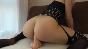 Anal, Solo, Assfucking, Masturbation, Teen, Orgasm, Stockings